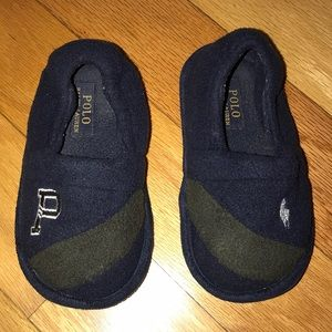 Polo Ralph Lauren Rugby Slippers Navy/Kelly Green